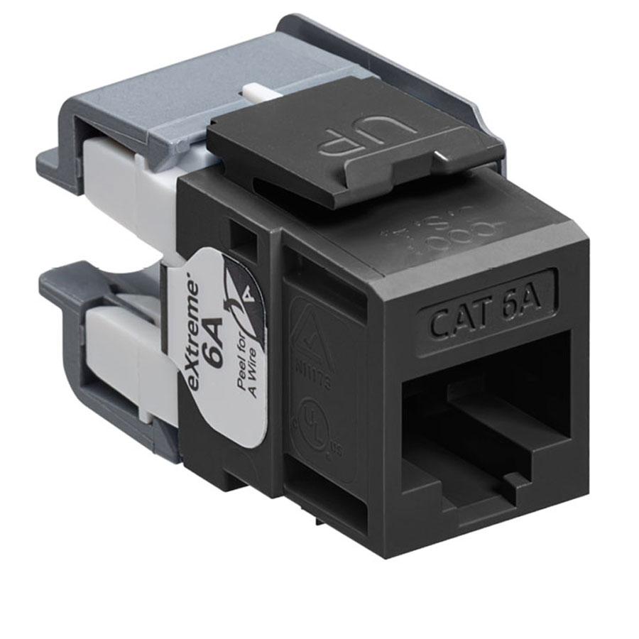 Leviton 6110G-RE6 eXtreme 10G Channel-Rated Connector (Black)