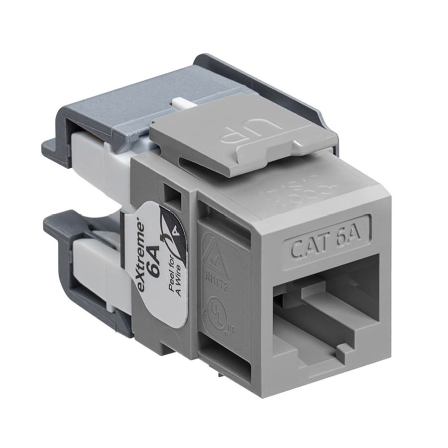 Leviton 6110G-RG6 eXtreme 10G Channel-Rated Connector (Gray)