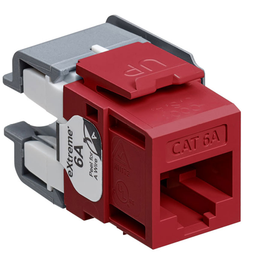 Leviton 6110G-RR6 eXtreme 10G Channel-Rated Connector (Red)