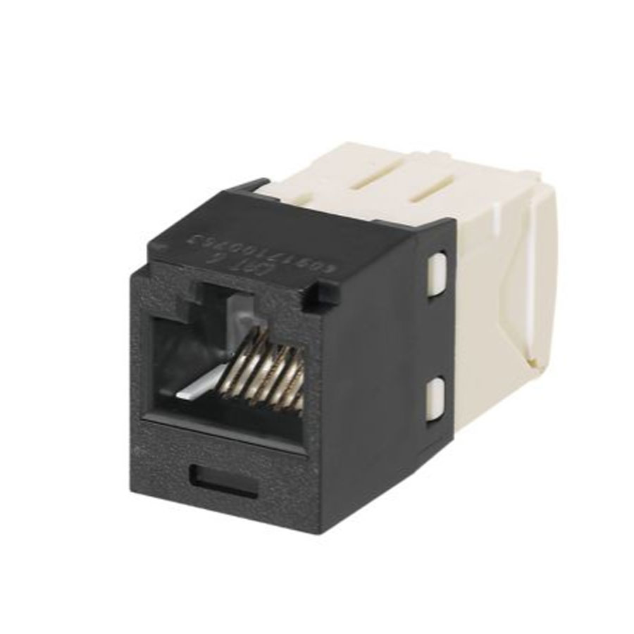 """Panduit CJ688TGBL Mini-Com Module, Cat 6, UTP, 8 pos 8 wire, Universal, Black, TG Style"""