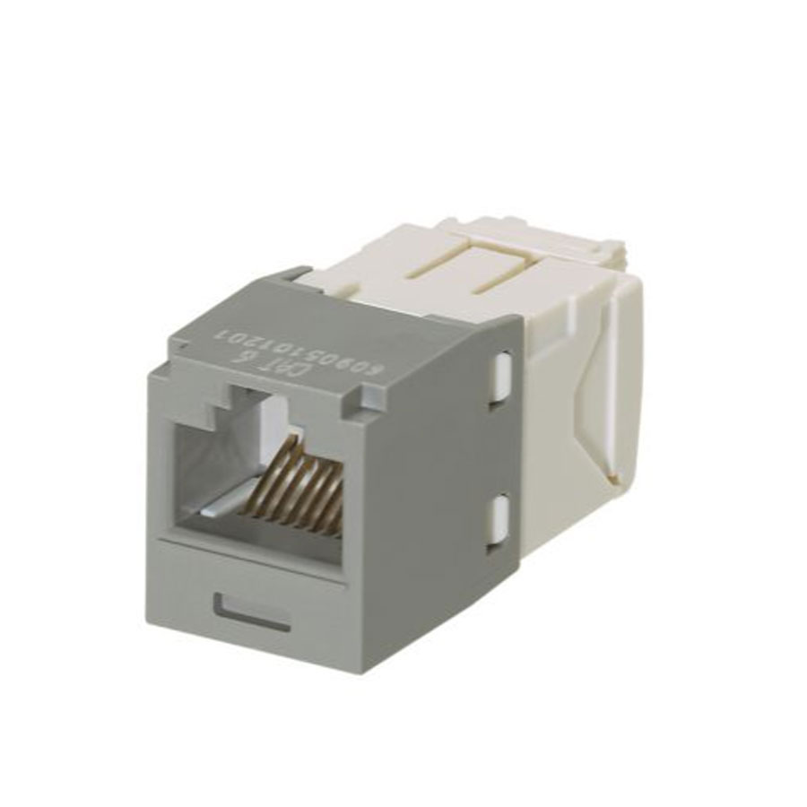 """Panduit CJ688TGIG Mini-Com Module, Cat 6, UTP, 8 pos 8 wire, Universal, Intl Gray, TG Style"""