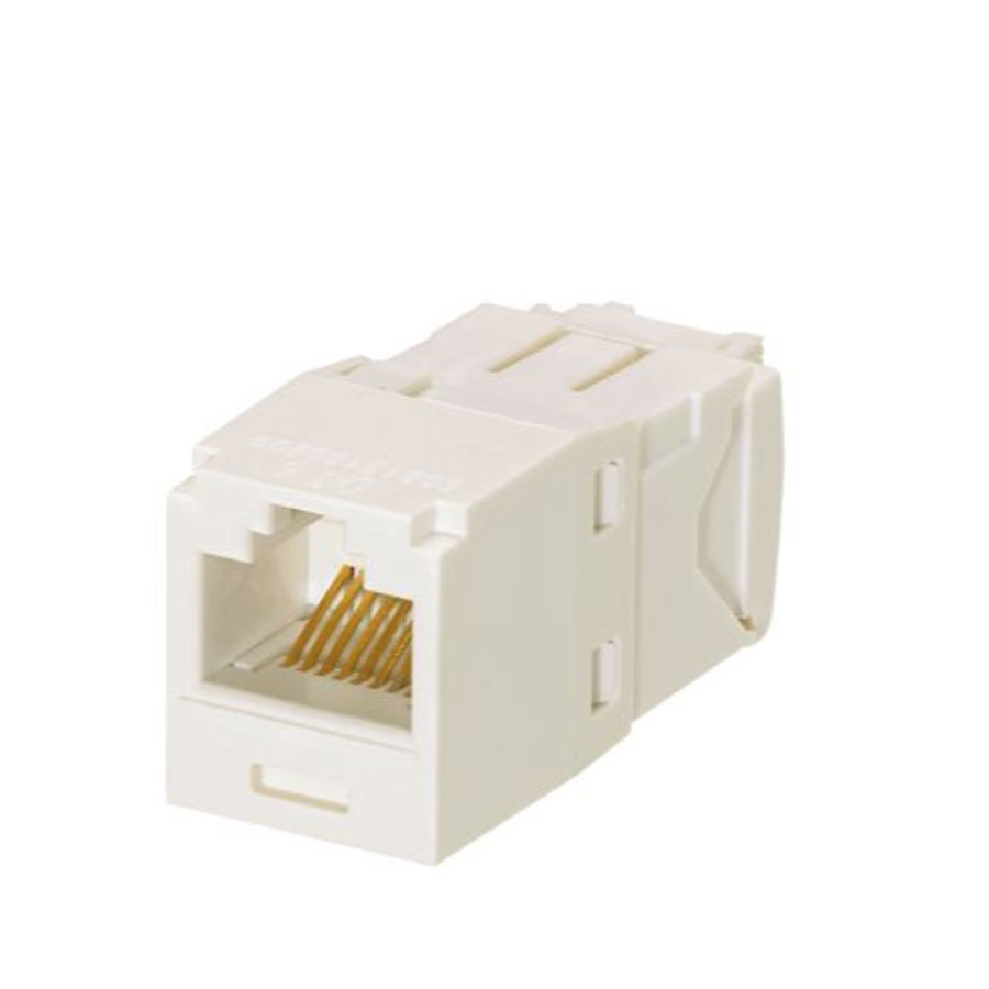 """Panduit CJ688TGIW+ Cat6, RJ45, 8-position, 8-wire, universal, module Off White"""